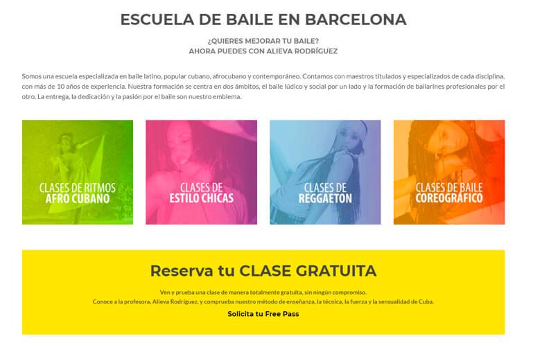 diseño web escuela de baile barcelona