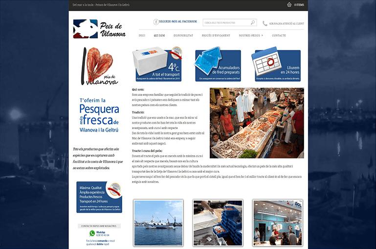 Diseño ecommerce Peix de Vilanova