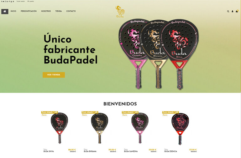 diseño web ecommerce buda paddel