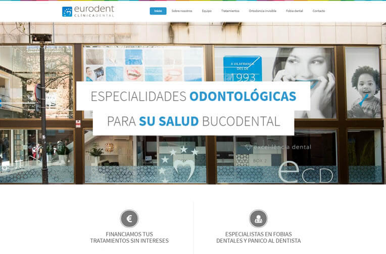 diseño web vilafranda del penedes clinica dental