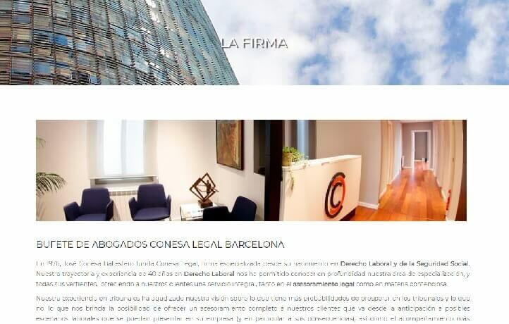 diseño pagina web barcelona abogado