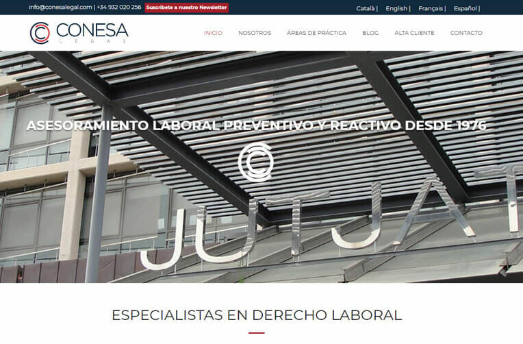 diseño web barcelona conesa legal