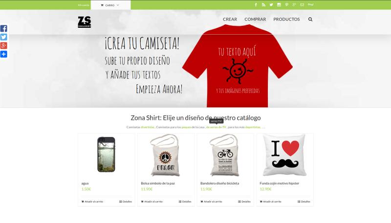 diseño web camisetas personalizadas