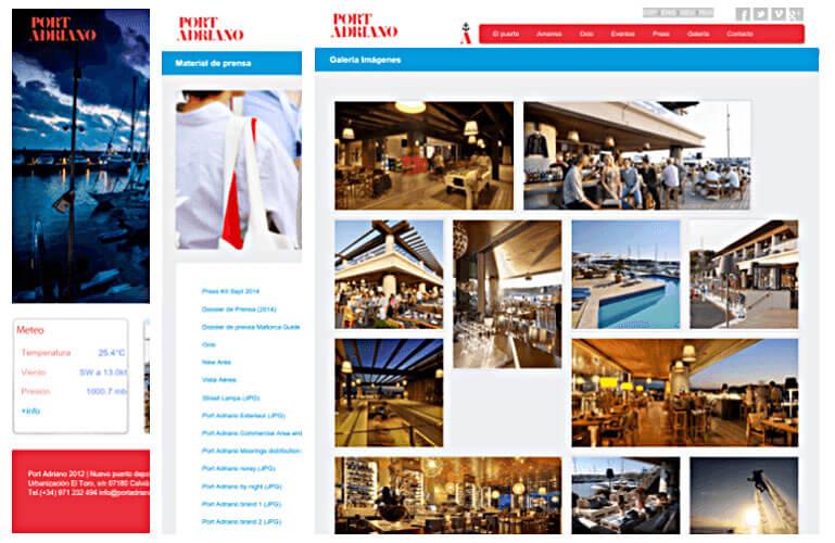 diseño pagina web mallorca port adriano