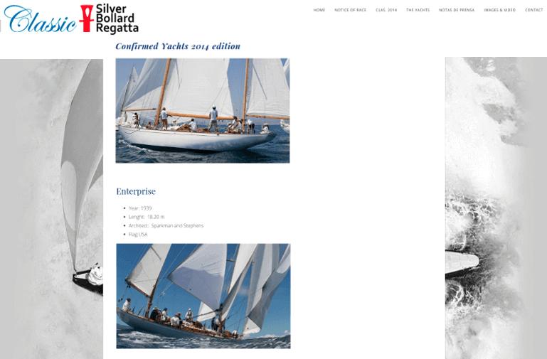 diseño web mallorca silver bollard regatta