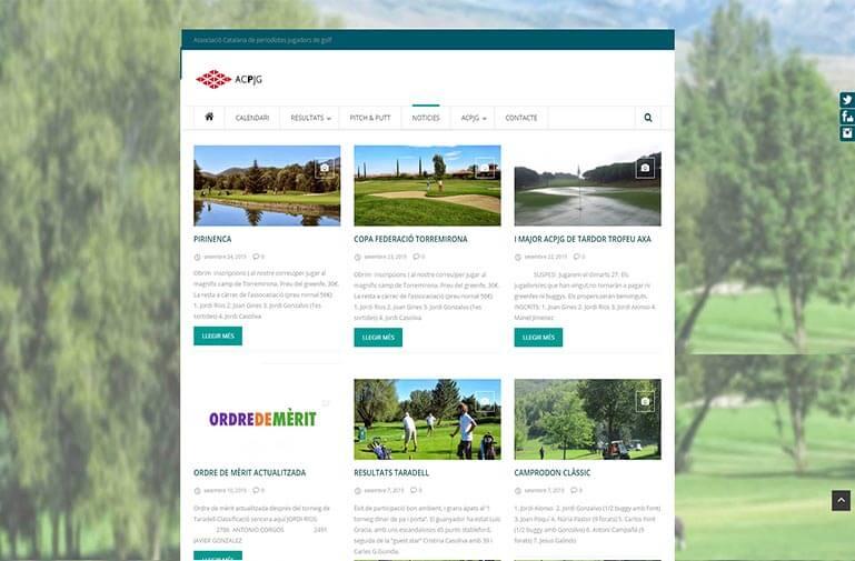 diseño pagina web vilanova golf