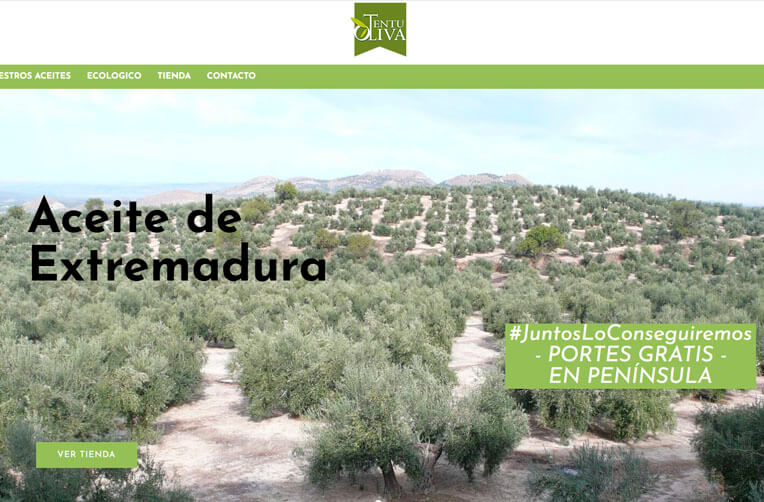 diseño web badajoz aceite de oliva