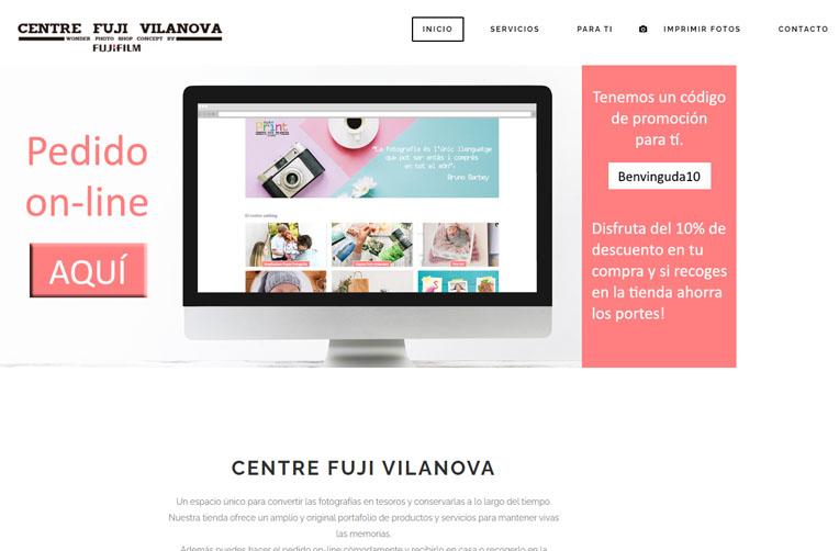 diseno web centre fuji vilanova