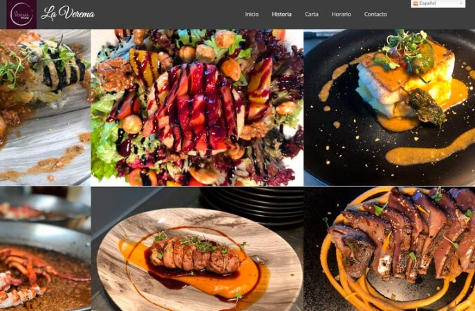 diseño web restaurante en comarruga