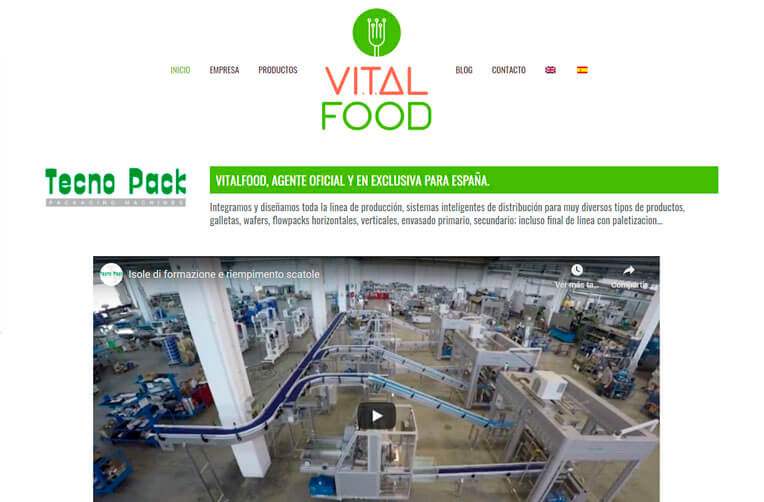 diseño web industria alimentaria