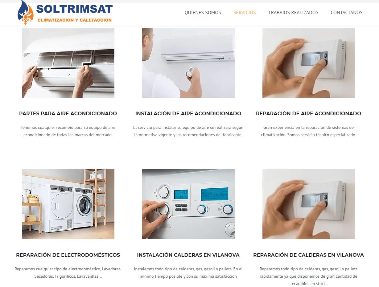 diseño web instalador aire acondicionado