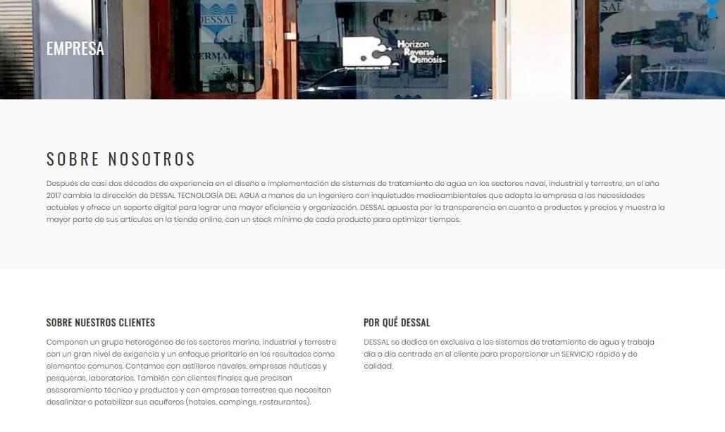 diseño web vilanova osmosis y nàutica