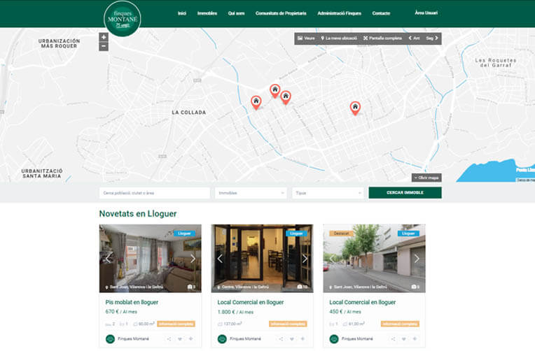 diseño web vilanova inmobiliaria
