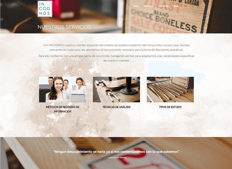 diseño web estudios de mercado