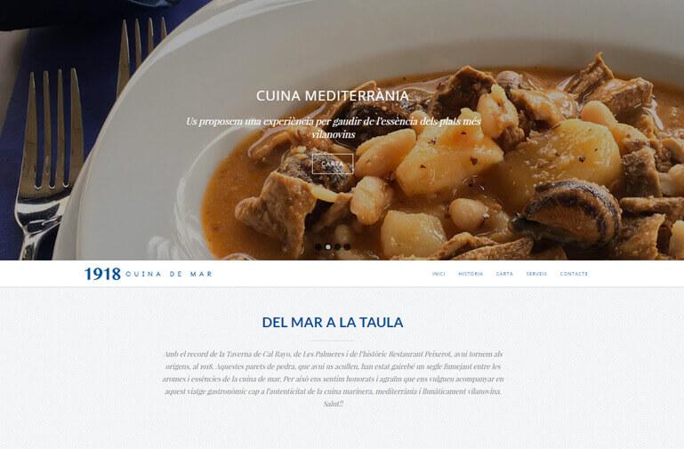 diseño web vilanova restaurant 1918
