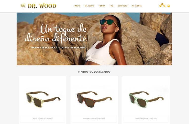 diseño ecommerce gafas de sol
