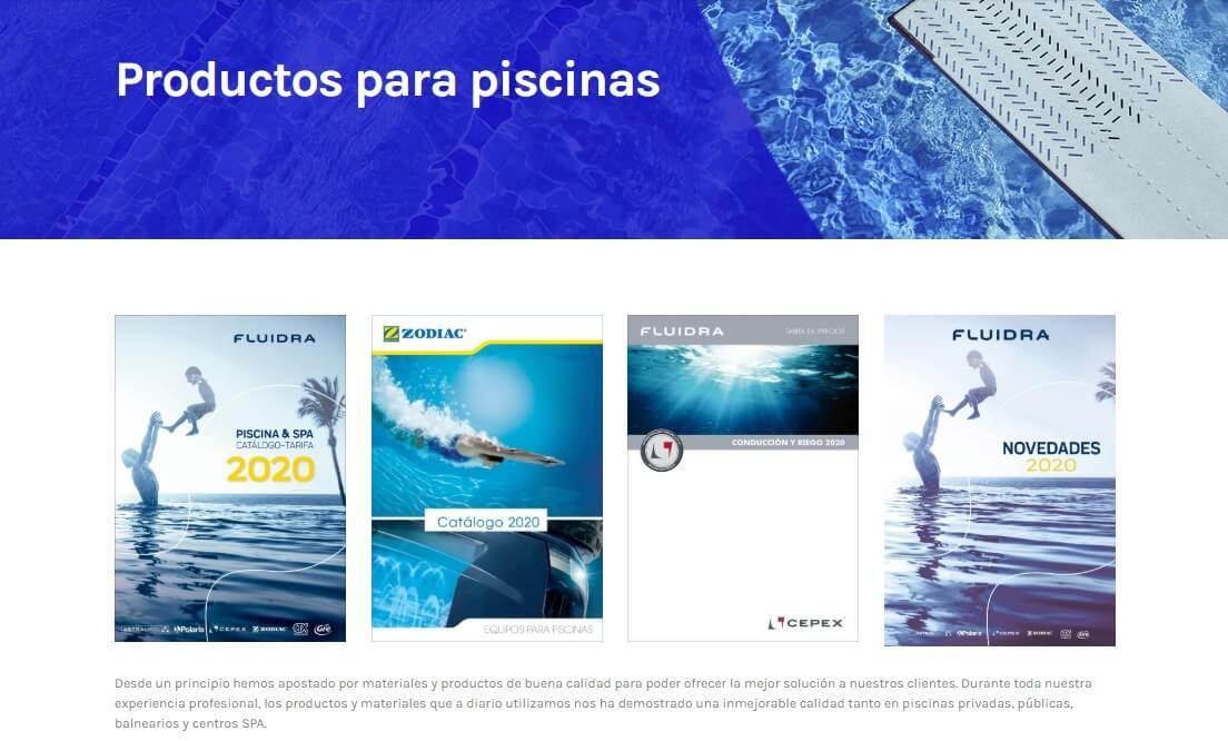 diseño web piscinas segur de calafell