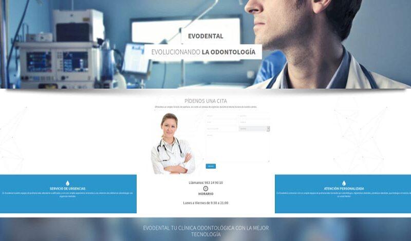 diseño web clinica evodental