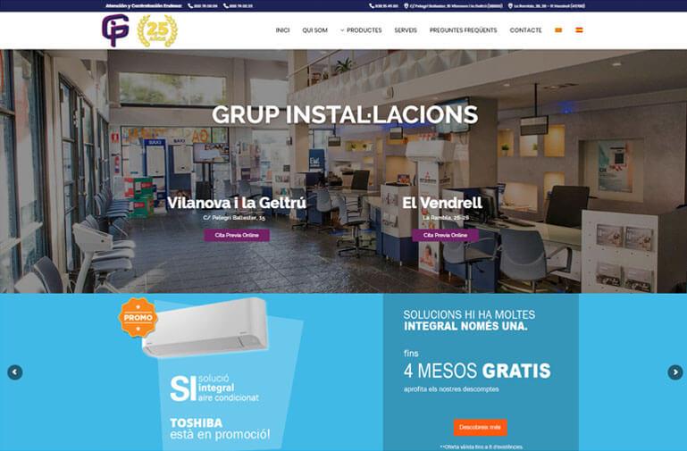 diseño web vilanova grupo instalaciones