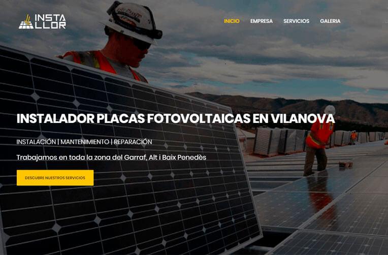 diseño web placas solares installor