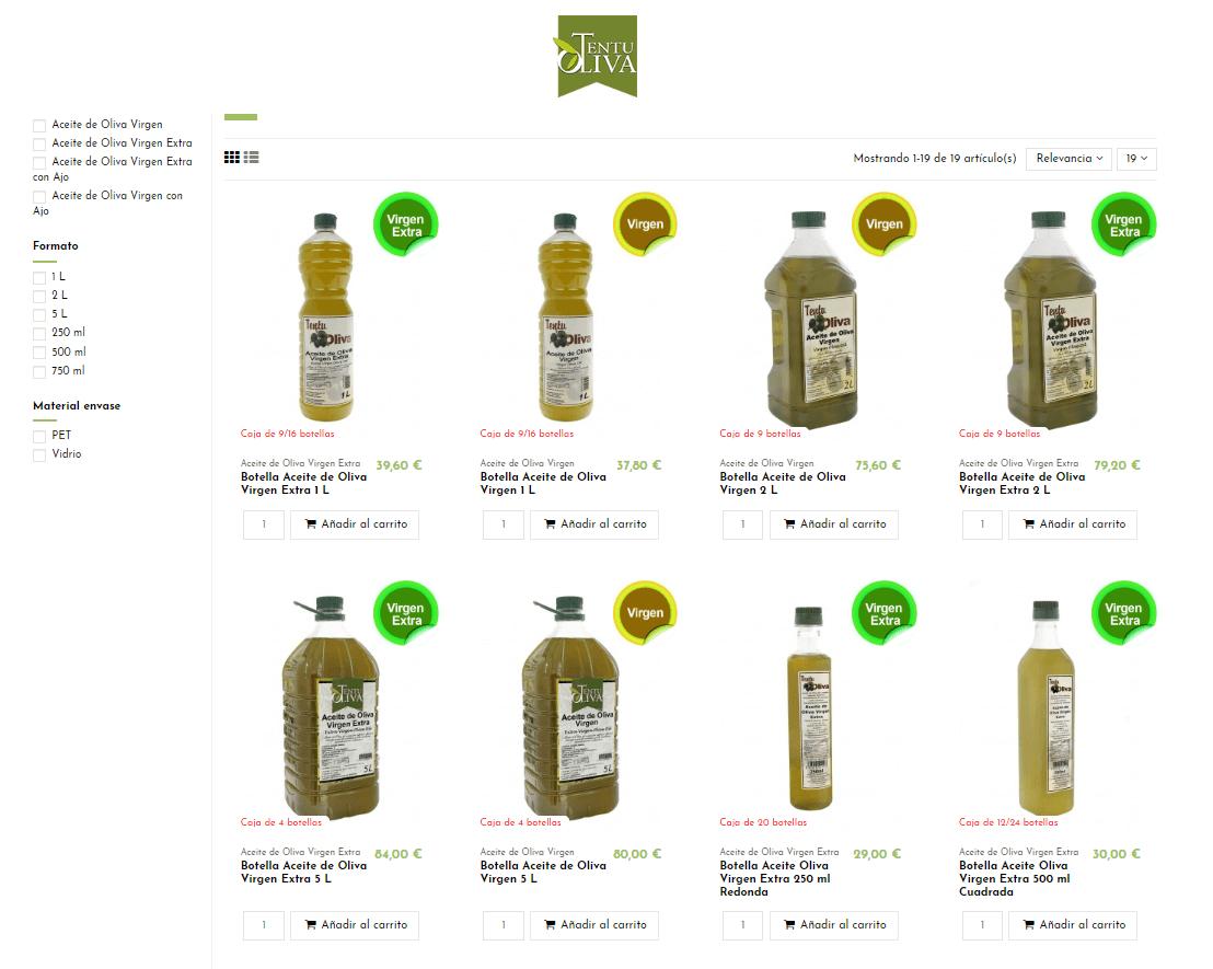 ecommerce web aceite