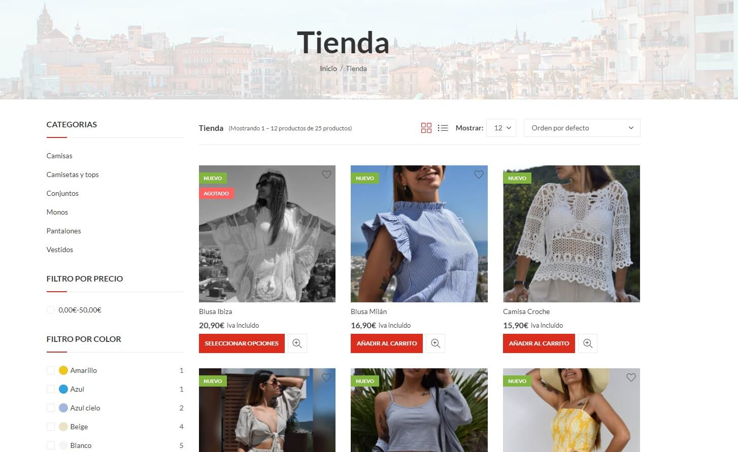 diseño tienda online sitges