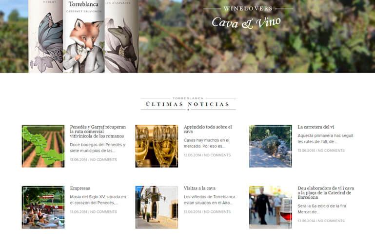 diseño web cava torreblanca